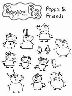peppa and friends peppa pig colouring peppa pig drawing