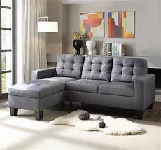 ealdun contemporary 2 pc button tufted sofa ottoman set