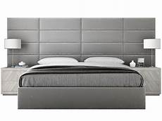 vant platform bed king size upholstered wall panels