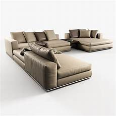 Modular Sectional Sofa For Living Room 3d Image by Modular Sofas Hamilton Minotti 3d Model