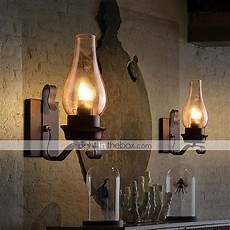 Candle Sconce Light Fixtures Rustic Glass Retro Candle Light Wall Sconce Lamp Fixture