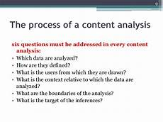 Content Analysis Example Content Analysis
