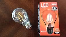 Orange Filament Light Bulb Feit 4 5watt Orange Filament Led Light Bulb Youtube