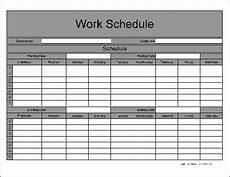 Work Schedual Free Wide Numbered Row Biweekly Work Schedule From Formville