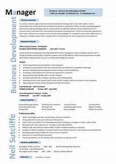 Business Management Cv Business Development Manager Cv Template Managers Resume