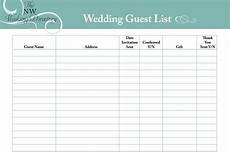 Free Wedding Guest List Template 30 Free Wedding Guest List Templates Templatehub