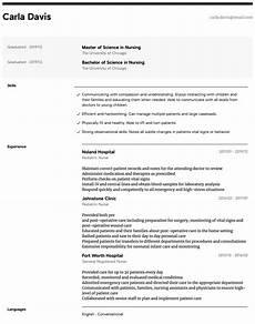 Nurse Resume Pediatric Nurse Resume Samples All Experience Levels