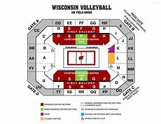 Wisconsin Badgers Seating Chart Uw Volleyball Seating Chart Com