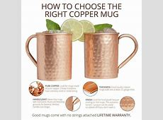 Pure Moscow Mule Copper Mugs (Set of 4)  Classic style 16