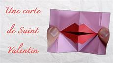 Cartes St Valentin Origami Une Carte De Saint Valentin Anim 233 Youtube