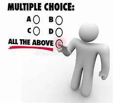 Multiple Choice Multiple Choice All The Above Options Test Quiz