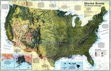 Geographic Map Quot United States The Physical Landscape Quot 1996 Map By