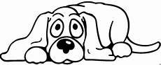 hund liegt auf dem boden ausmalbild malvorlage comics