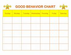 Free Printable Behavior Charts 42 Printable Behavior Chart Templates For Kids ᐅ Templatelab