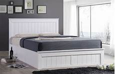 chandler white solid wood ottoman storage bed frame gas