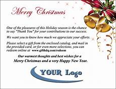 Merry Christmas Letter Sample Employee Recognition Gift Catalog Packets Customizing