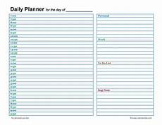 Daily Calendars 47 Printable Daily Planner Templates Free In Word Excel Pdf