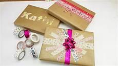 geschenke geschenke verpacken tolle geschenke mit washitape dekorieren