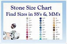Actual Gemstone Size Chart Swarovski Jewelry Design Ideas Rainbows Of Light