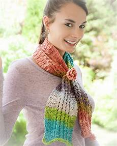 loom knit scarf pattern painted ripples scarf pattern