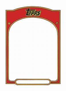 Baseball Card Templates Sports Trading Card Templet Craft Ideas Pinterest