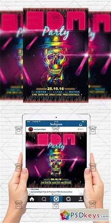 Party Flyer Size Edm Party Flyer Template Instagram Size Flyer 187 Free