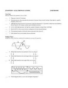 Chemistry Chapter 5 Electrons In Atoms Worksheet Answers