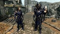 Daedric Assassin Light Armor Daedric Light Armor Daedric Blue At Skyrim Nexus Mods