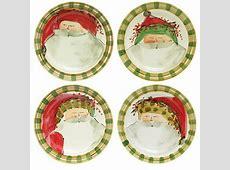 "Vietri Old St. Nick Assorted Dinner Plates Set of 4   10.75"" D"
