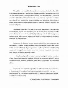 Example Essay Argumentative Argumentative Essay Didactics 1