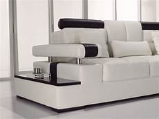 contemporary black white italian leather sectional sofa
