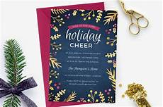 Holiday Party Invitations Template Holiday Party Invite Foil Foliage Invitation Templates