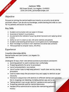 Dental Assistant Objective Examples Entry Level Dental Assistant Resume Dentist Resume