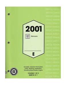 2001 Cadillac Eldorado Factory Service Manual