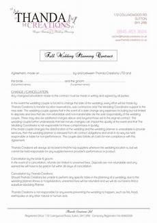 Wedding Planner Contract Wedding Planner Contract Templates At