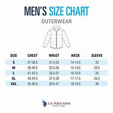 Polo Ralph Size Chart Mens Size Guide Men S Outerwear U S Polo Assn