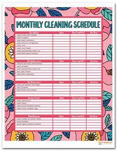 Daily Weekly Monthly Cleaning I Should Be Mopping The Floor Free Printable House