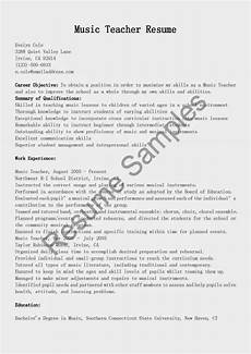 Music Teacher Resume Sample Resume Samples Music Teacher Resume Sample