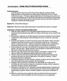 Nursing Supervisor Job Description Free 8 Sample Registered Nurse Job Description Templates