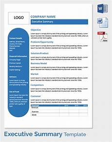 Executive Summary Word Template Free Executive Summary Template Download In Word Pdf