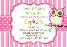 Birthday Invitations Girls Owl Birthday Party Invitations Bagvania Free Printable