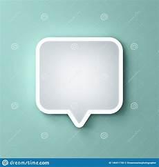 Border Light Notification Blank Neon Light White Speech Bubble Pin Or Chat Pop Up