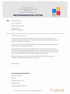 Letters Of Recommendation For Mba Mba Recommendation Letter Pdf Templates Jotform