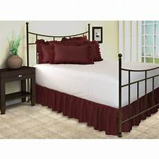 harmony ruffled bed skirt with split corners king