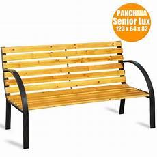 panchina per esterno panchina panca da giardino 3 posti in legno a doghe e