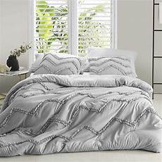 Light Grey Textured Duvet Cover Shop Textured Ruffles Bedding Chevron Glacier Gray Duvet