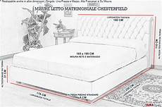 misure da letto matrimoniale letto matrimoniale in vera pelle in stile chesterfield