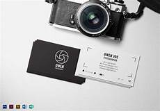 Photography Business Cards Templates Photographer Lens Business Card Template In Psd Word