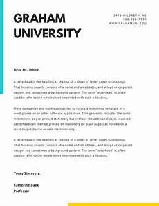 Cover Letter Letter Head Customize 75 Official Letterhead Templates Online Canva