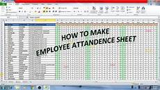 Attendance Sheet In Excel How To Make Employee Attendance Sheet In Excel Hindi